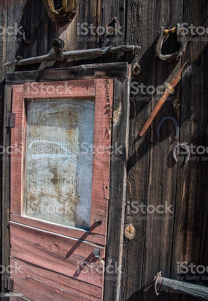 Tortilla Flats Old West Wooden Slat Building Exterior stock photo