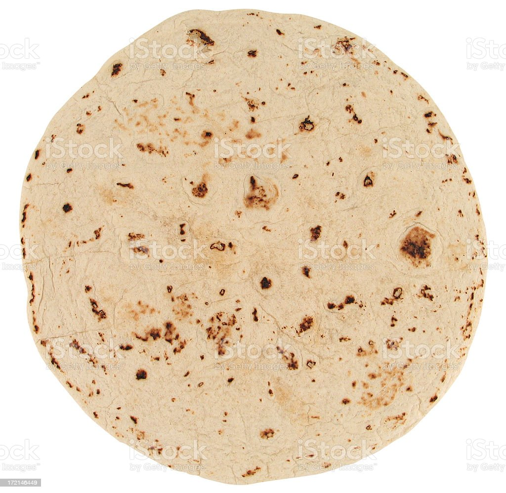 Tortilla (with clipping path) stock photo