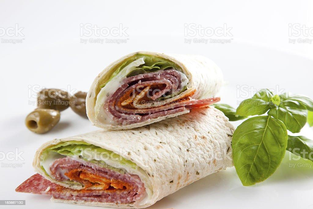 Tortilla Sandwich Wrap stock photo