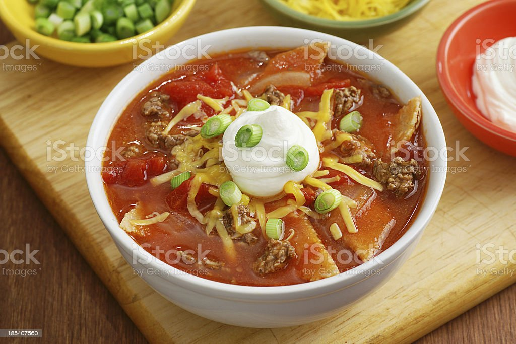 Tortilla Soup stock photo