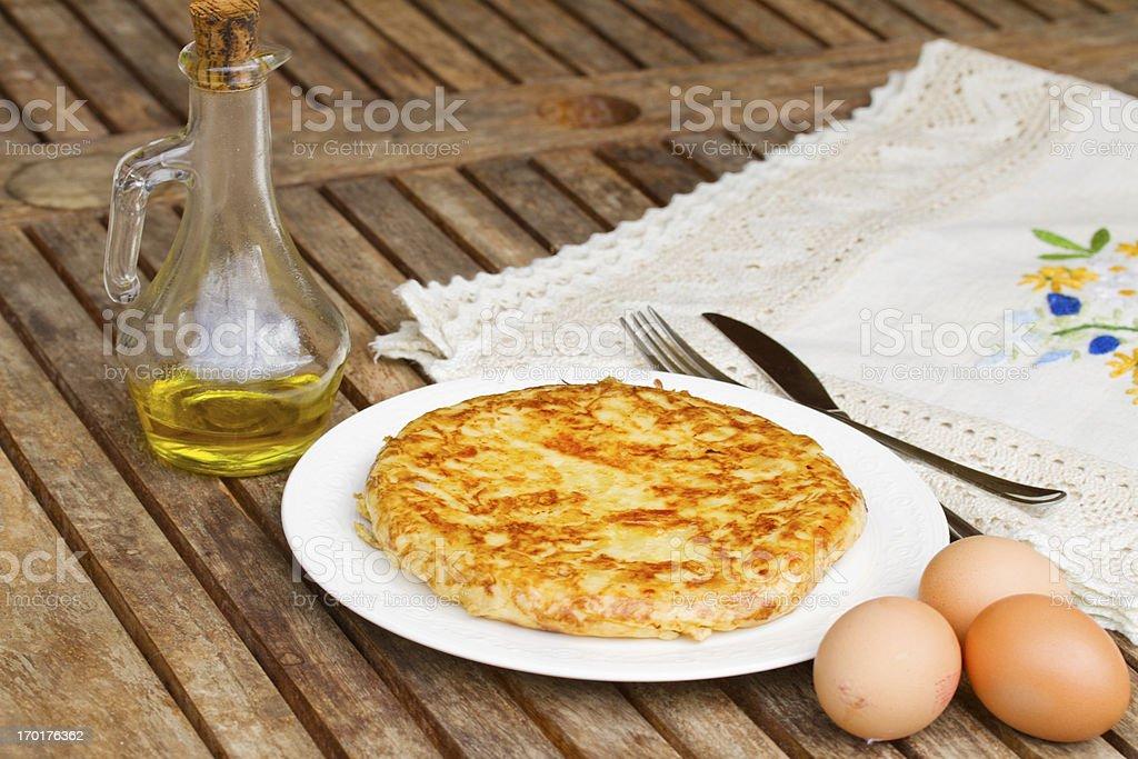 tortilla  - spanish omelette royalty-free stock photo
