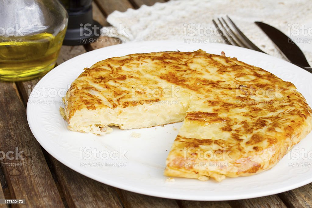 tortilla  - spanish omelette royalty-free stock photo