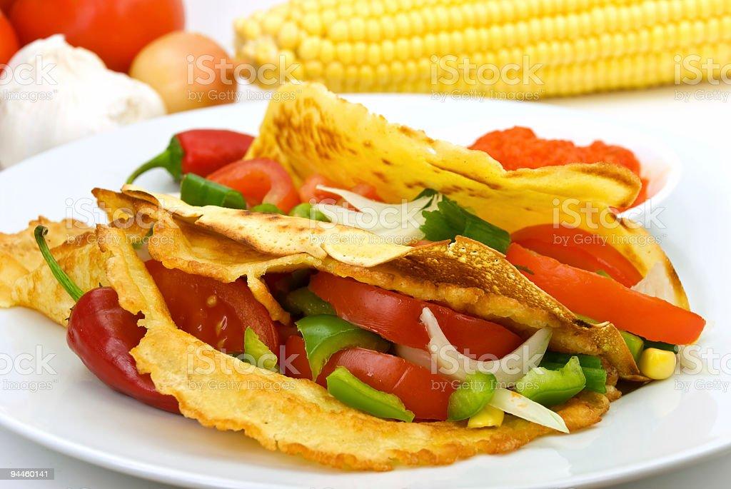 tortilla vegetable royalty-free stock photo