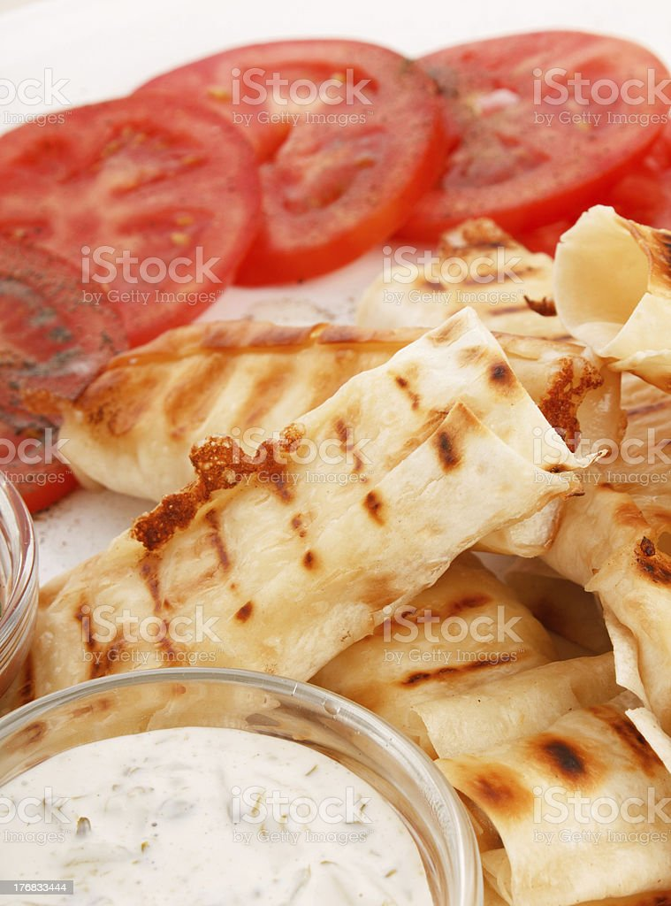 tortilla with cheese and vegetables royalty-free stock photo