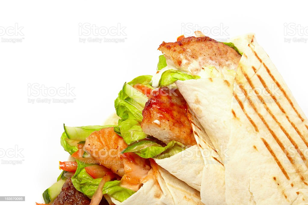 tortilla with vegetables royalty-free stock photo