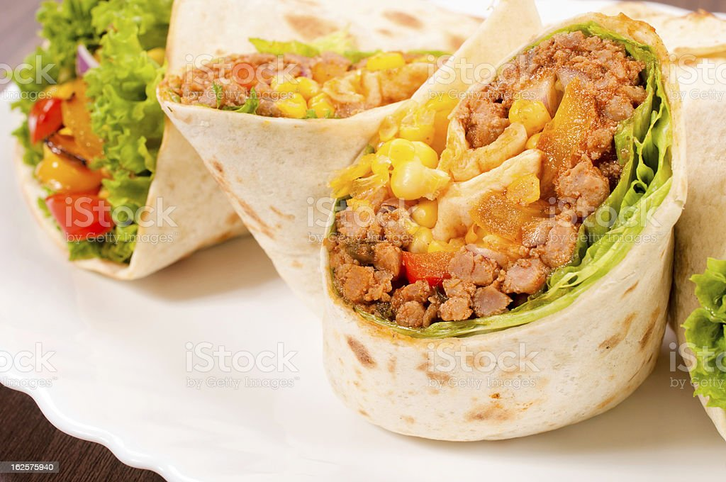 Tortilla wrap royalty-free stock photo