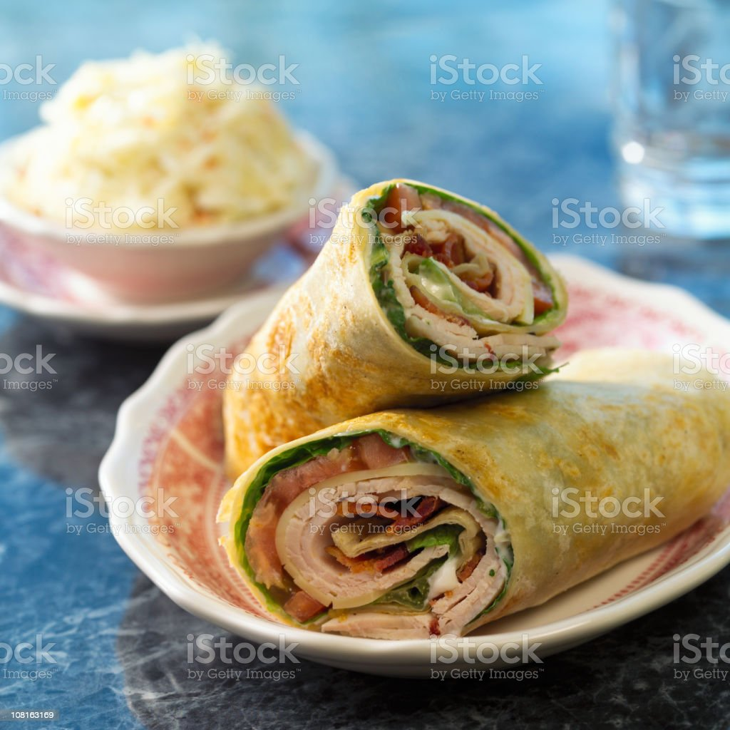 Tortilla Wrap Sandwich royalty-free stock photo