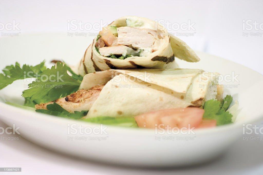 Tortilla Wrap2 stock photo