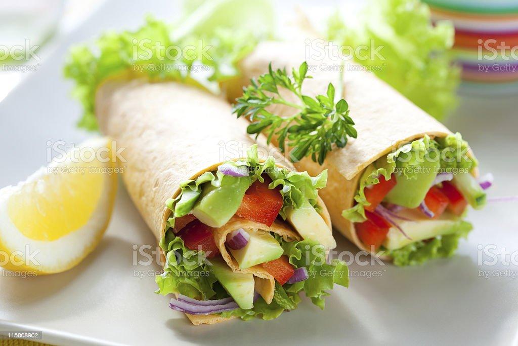 Tortilla wraps stock photo