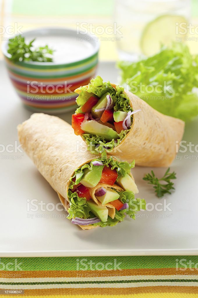 Tortilla wraps royalty-free stock photo