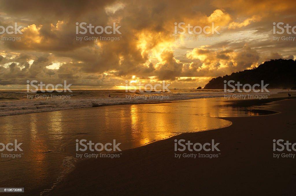 Tortuguero Sunset stock photo