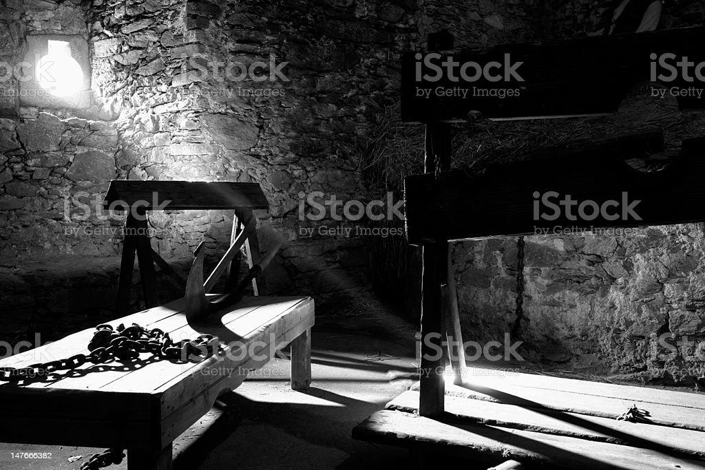 Torture chamber stock photo