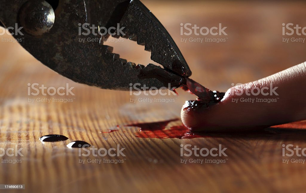 Torture - Denailing royalty-free stock photo