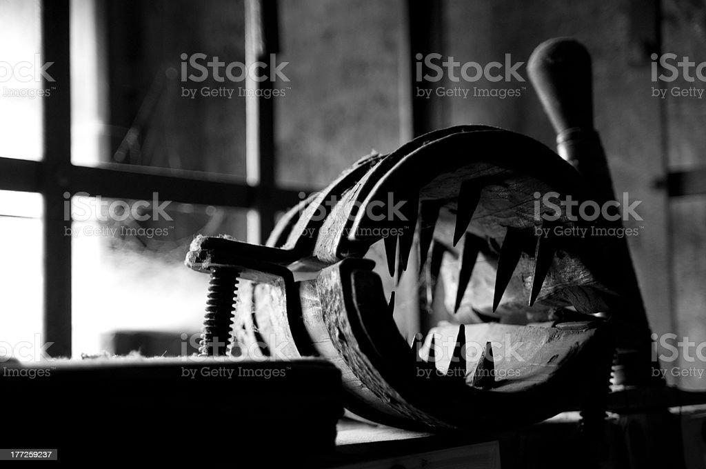 torture instrument stock photo