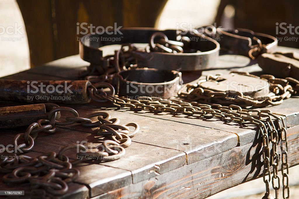 torture instruments stock photo