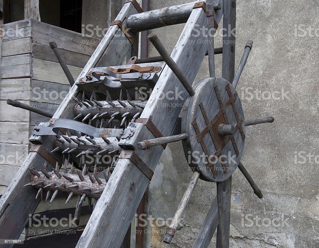 torture machine stock photo