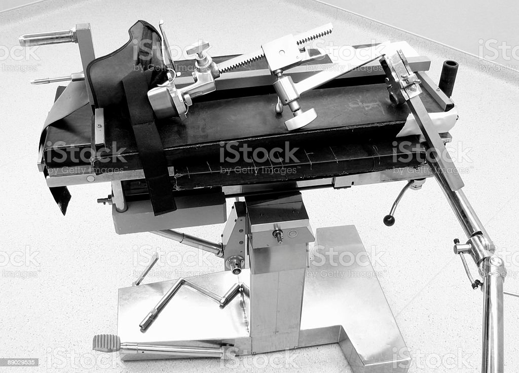 Torture Table, Black and White royalty-free stock photo