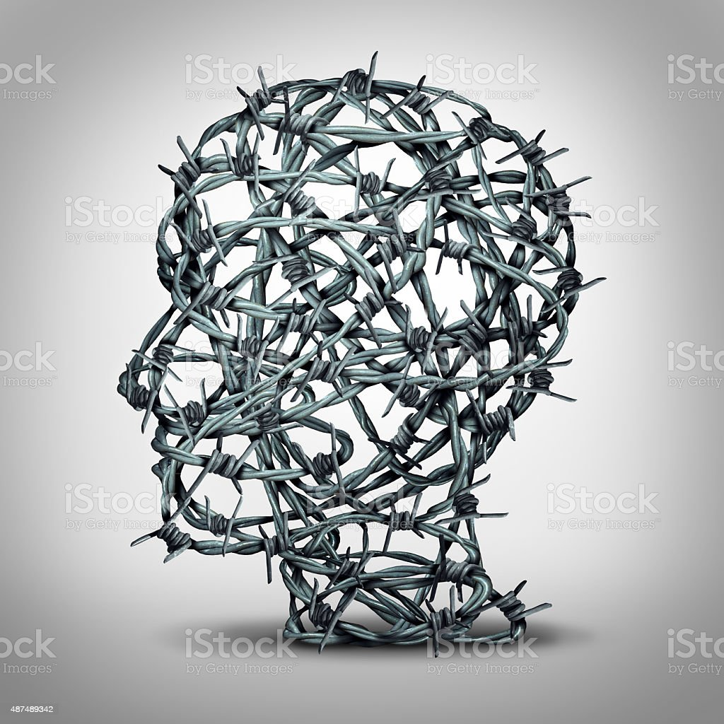 Tortured Thinking stock photo