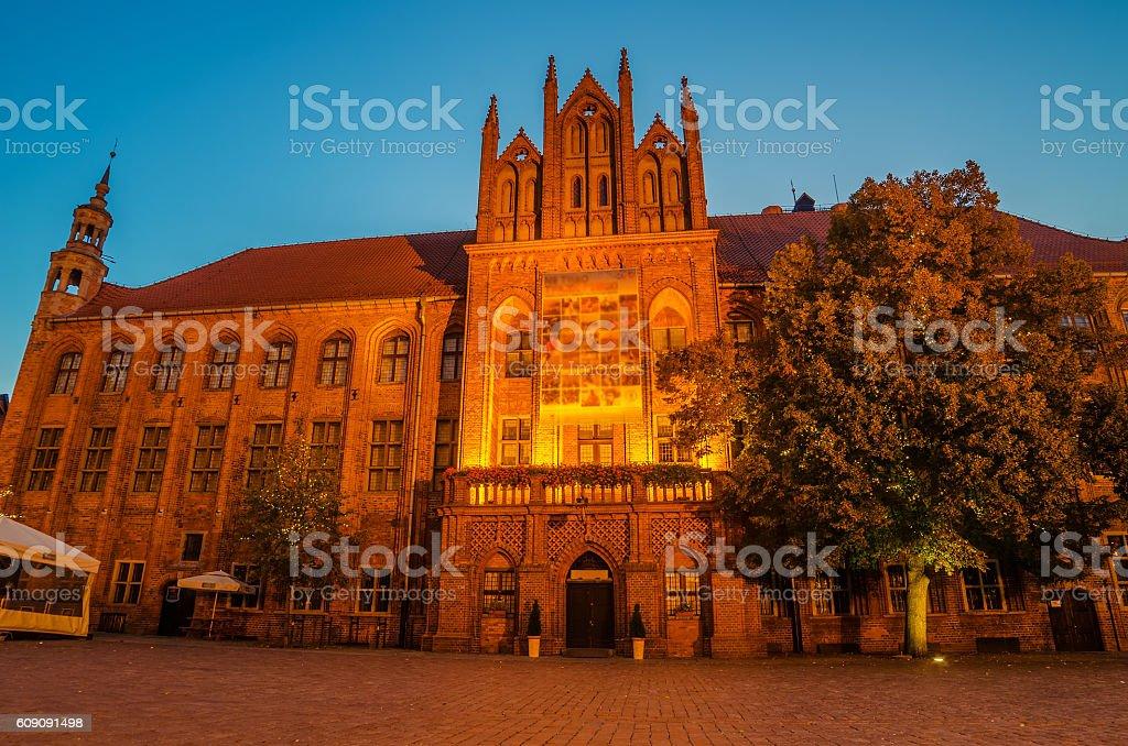 Torun, Poland: old town, city hall. stock photo