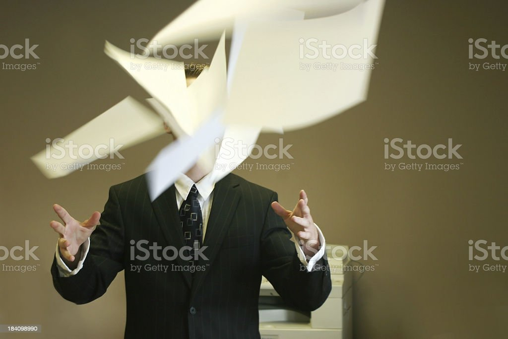 toss out the paper royalty-free stock photo