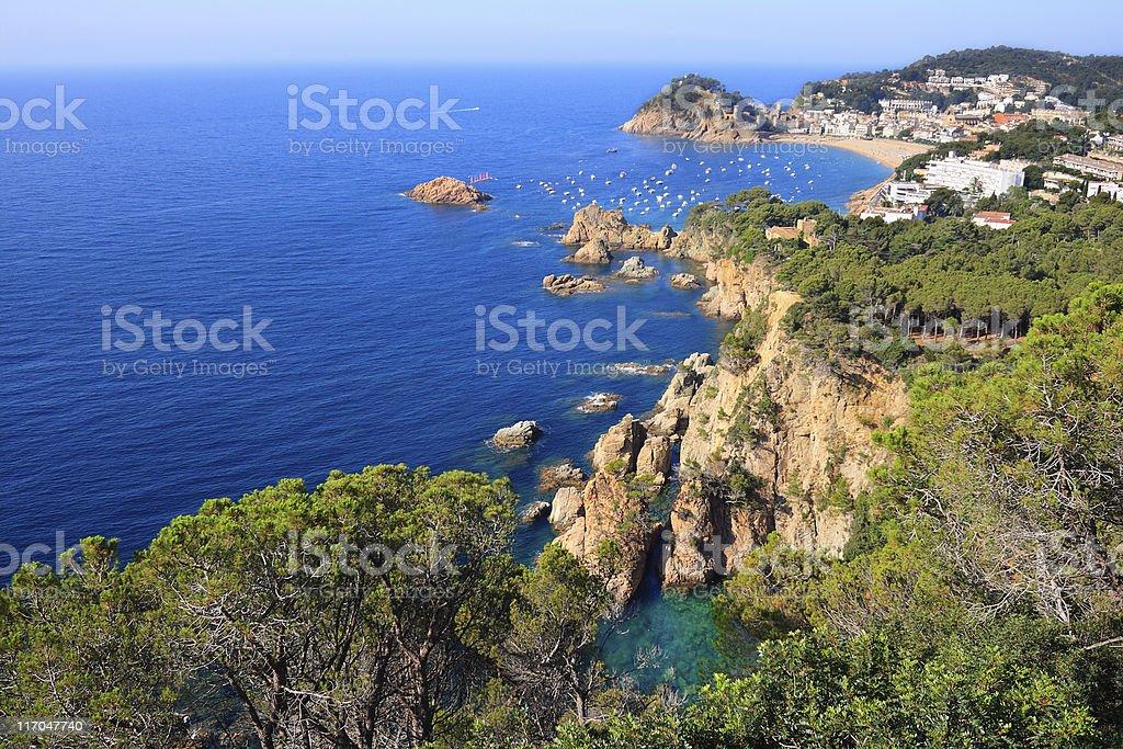 Tossa de Mar cliffs stock photo