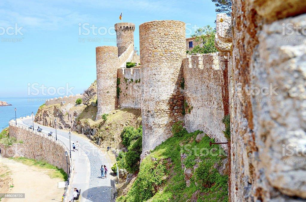 Tossa de Mar. Costa brava, Spain: Fortress stock photo