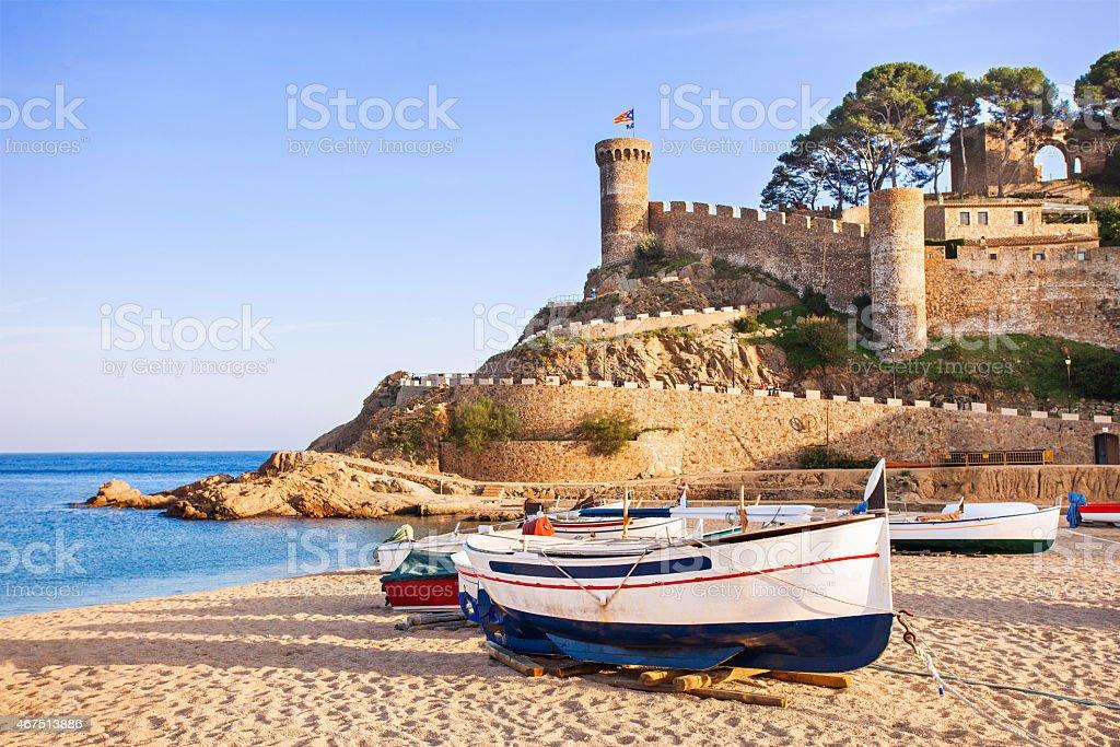 Tossa de Mar, Costa Brava, Spain stock photo