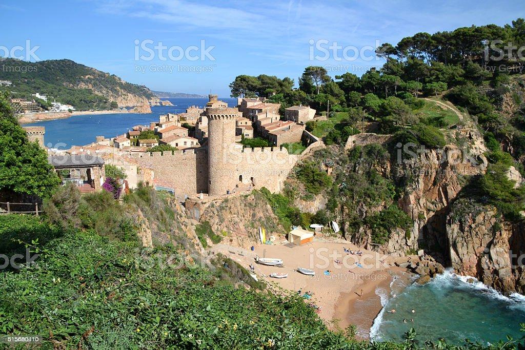 Tossa de Mar in Girona, Spain stock photo