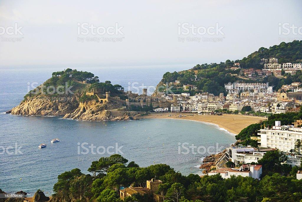 Tossa de Mar on Spain's Costa Brava stock photo