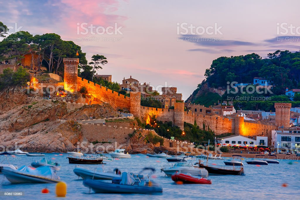 Tossa de Mar on the Costa Brava, Catalunya, Spain stock photo