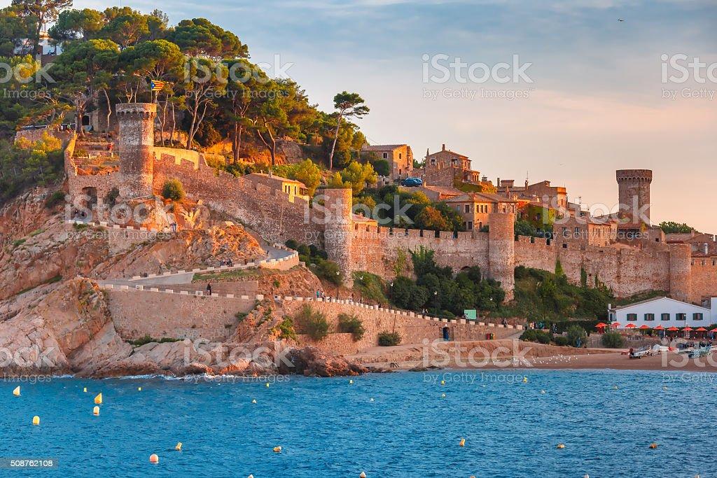 Tossa de Mar on the Costa Brava, Catalunya, Spain stock photo