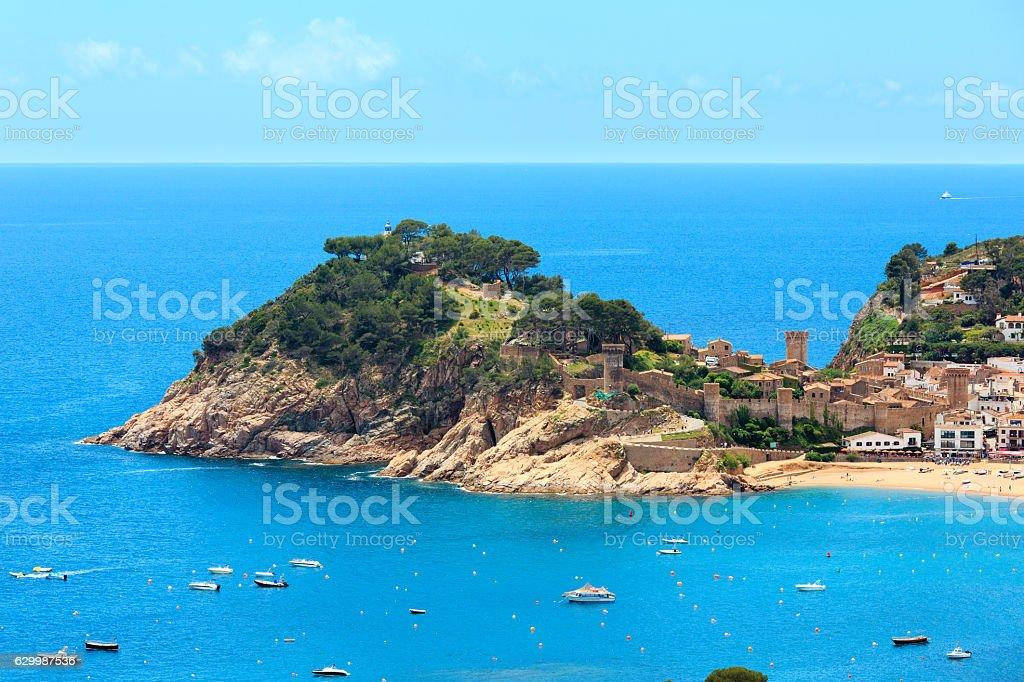 Tossa de Mar town coast (Spain). stock photo