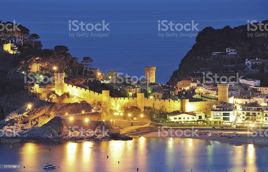 Tossa de Mar,Costa Brava,Spain stock photo
