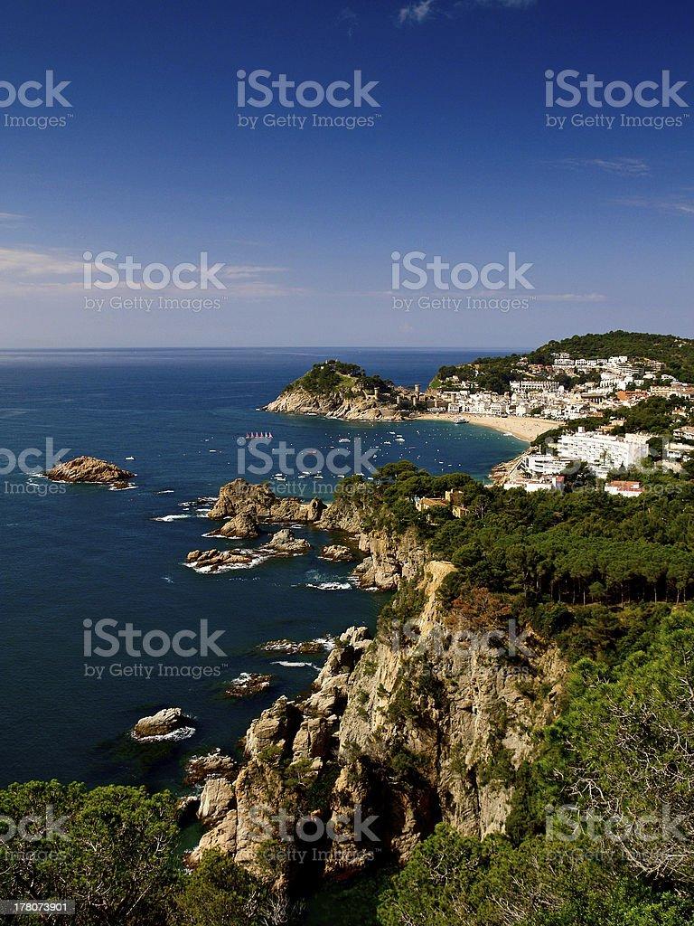 Tossa del Mar in Spain stock photo