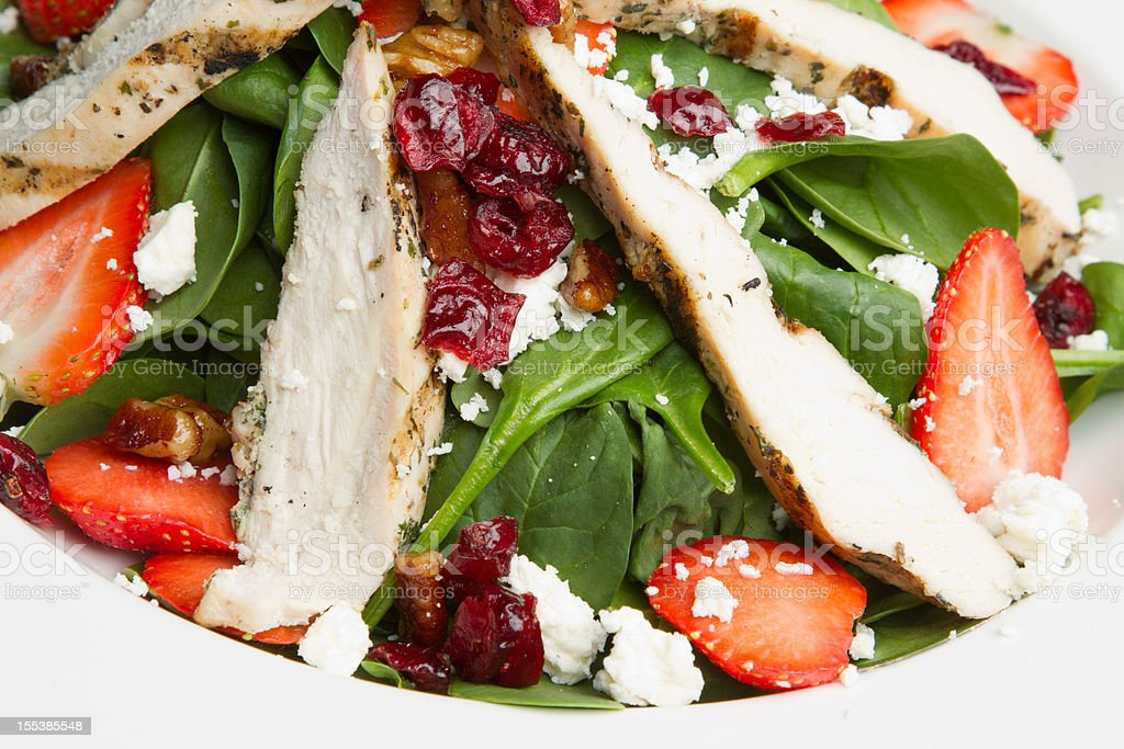 Tossed Green Salad with Grilled Chicken royalty-free stock photo