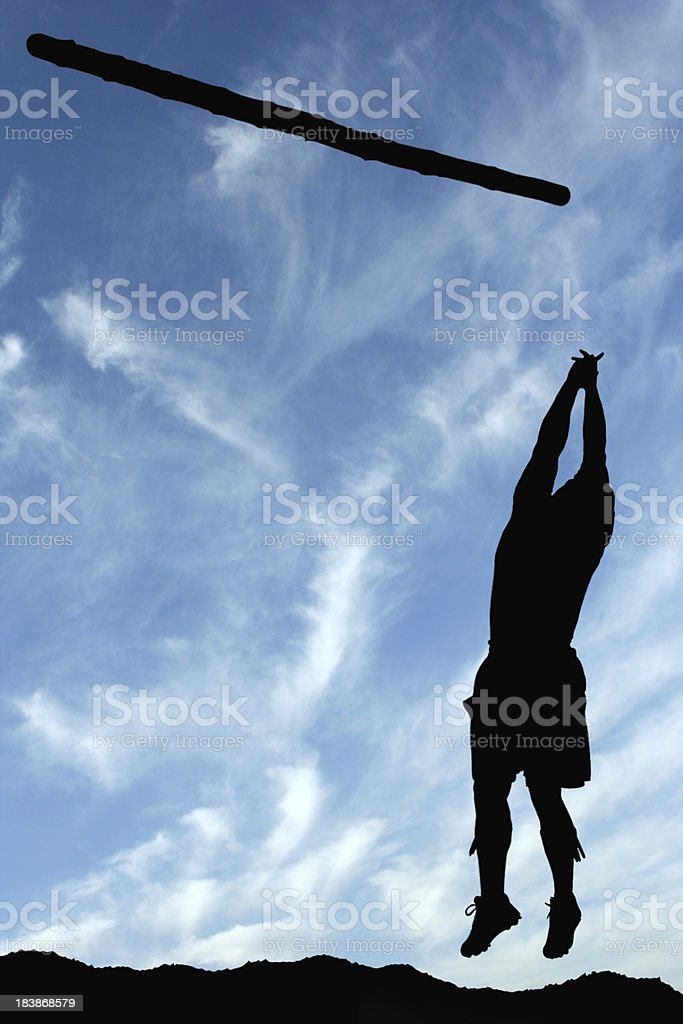 Tossing the Caber stock photo