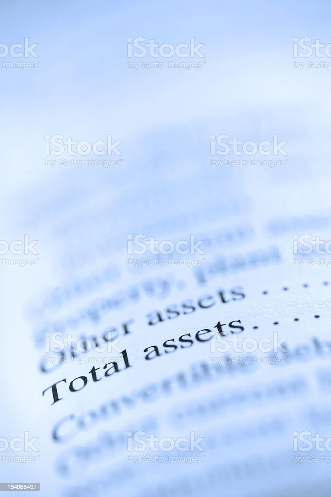 Total Assests royalty-free stock photo