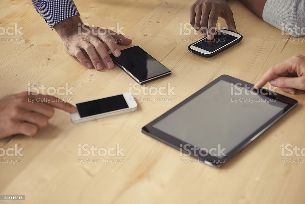 Total business connectivity stock photo