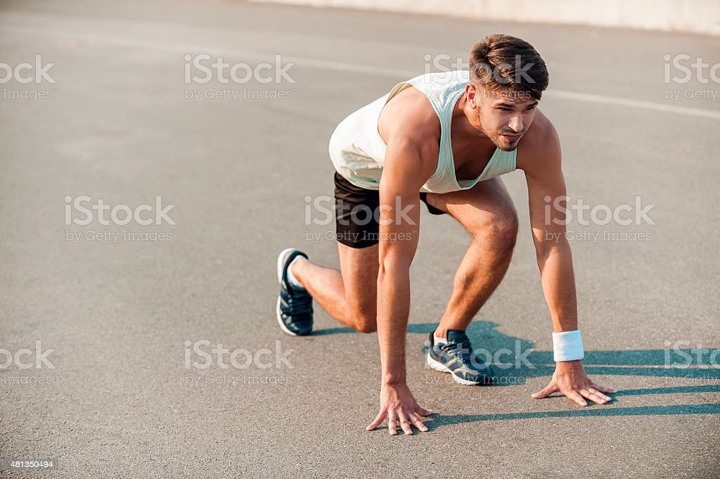 Total concentration. stock photo