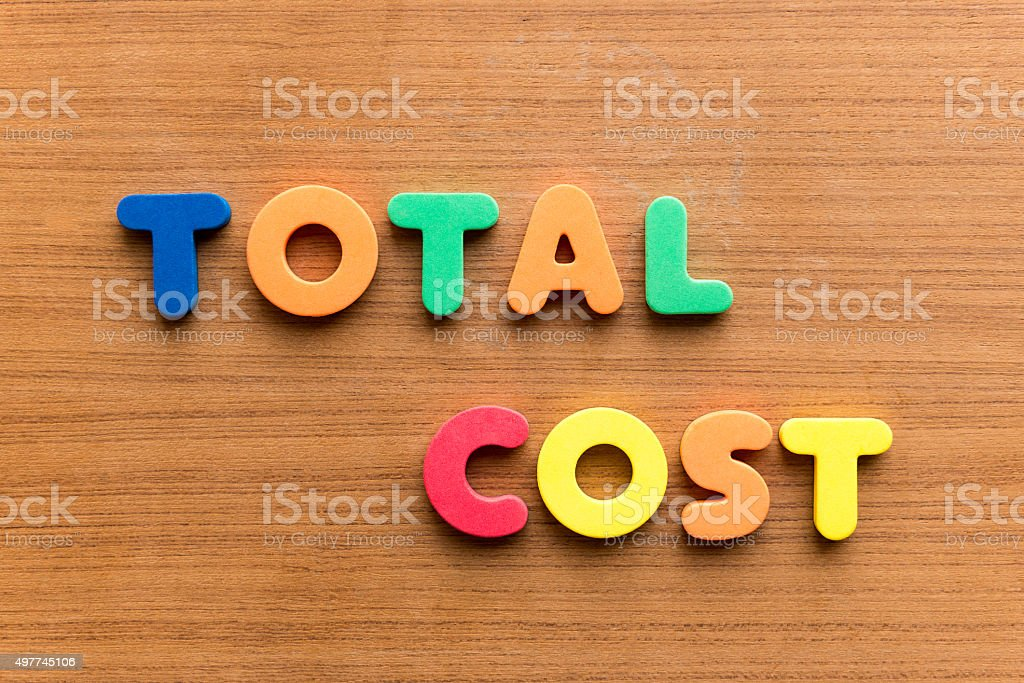 total cost stock photo