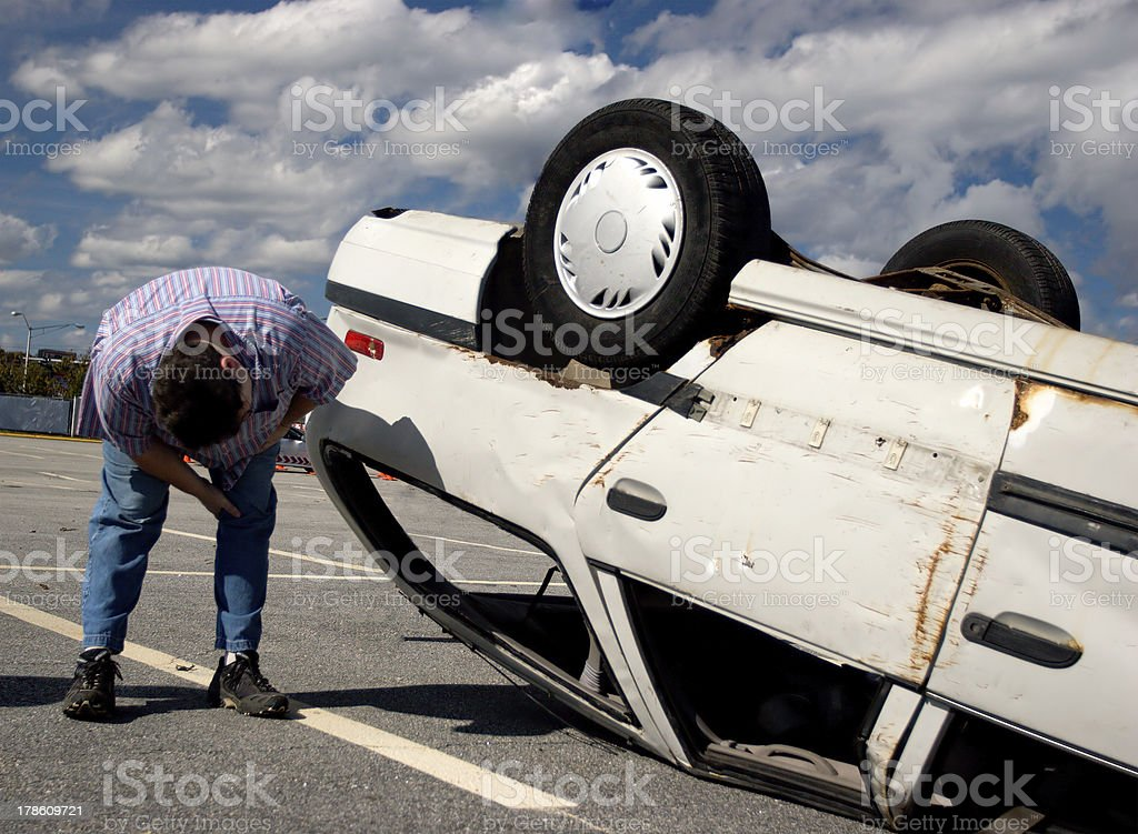 Total damage stock photo