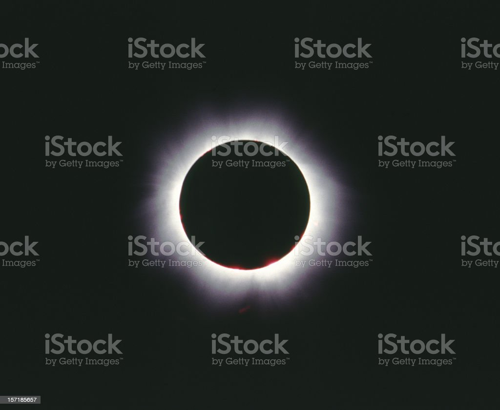 Total eclipse of the sun, Hungary 1999 royalty-free stock photo