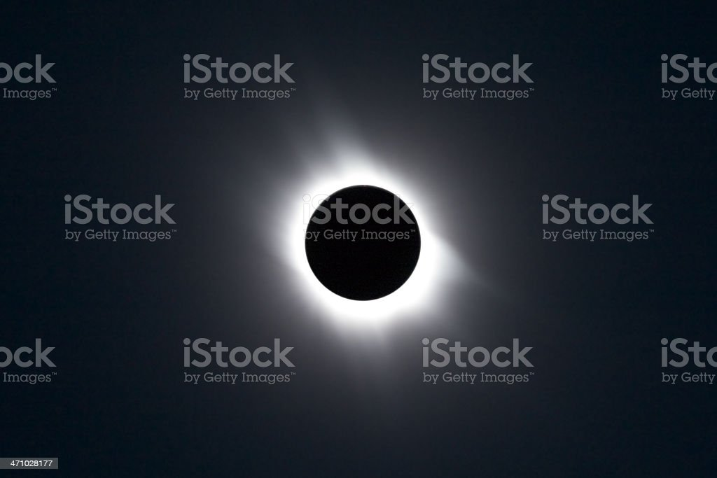 Total eclipse of the Sun stock photo