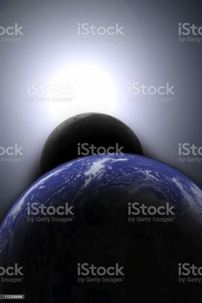 Total eclipse stock photo
