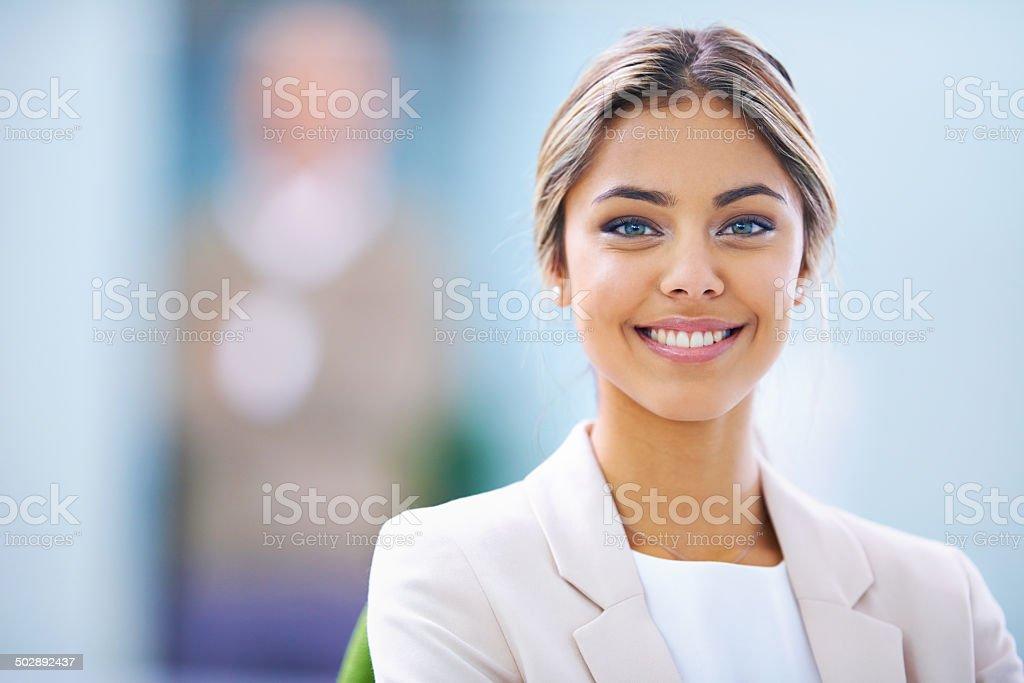 Total job satisfaction stock photo