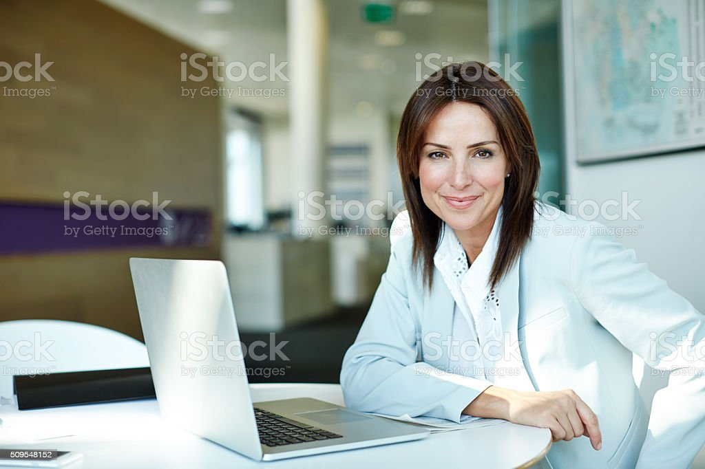 Total job satisfaction! stock photo