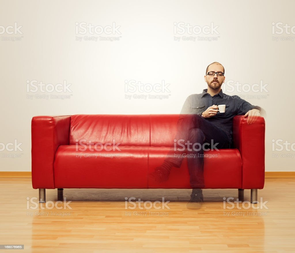 Total relaxation stock photo