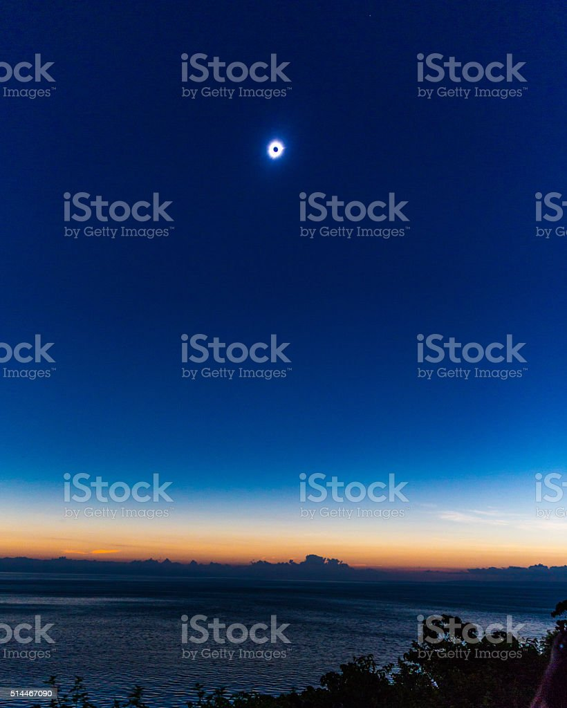 Total Solar Eclipse of the Sun, Indonesia stock photo