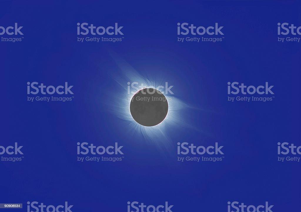 Total Solar Ecplise 2006 IV stock photo