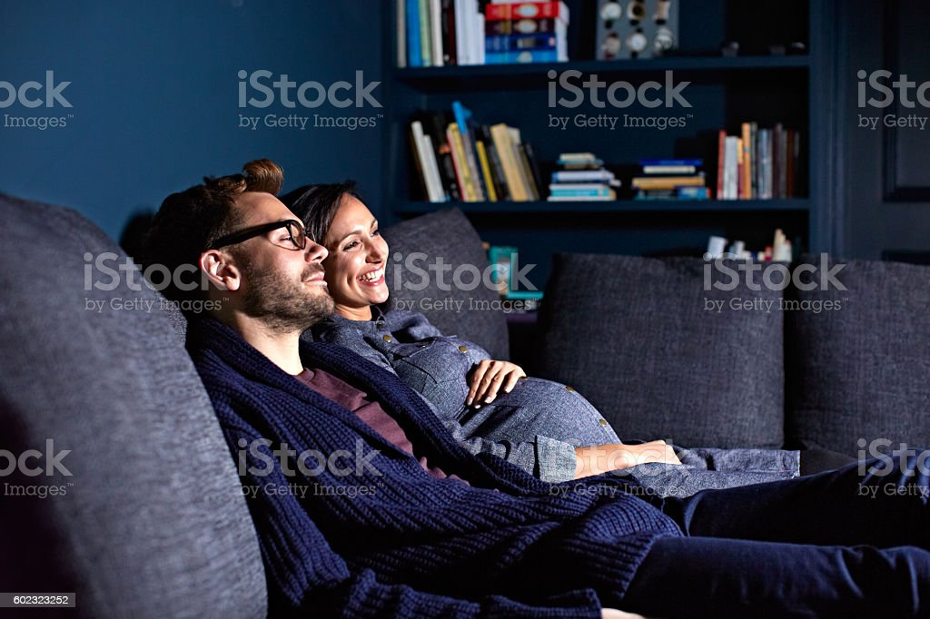 Totally content with time together stock photo